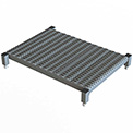 "36 X 24 Inch Adjustable Height Steel Work Platform - 5""H To 8""H"