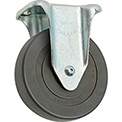 "Medium Duty Rigid Plate Caster 5"" Hard Rubber Wheel 290 Lb. Capacity"