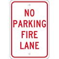 Aluminum Sign - No Parking Fire Lane - .080mm Thick