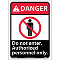 "Graphic Signs - Danger Do Not Enter - Vinyl 10""W X 14""H"