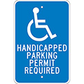 Aluminum Sign - Handicapped Parking Permit - .08mm Thick