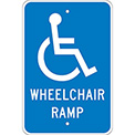 Aluminum Sign - Wheel Chair Ramp - .080 Mil Thick