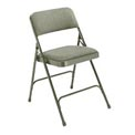 "Steel Folding Chair - 1-1/4"" Fabric Seat - Double Brace - Gray - Pkg Qty 4"
