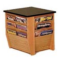 End Table With Magazine Rack Light Oak