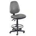 OFM Antimicrobial Stool Without Arms - Vinyl - Gray