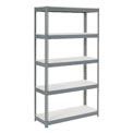 "Extra Heavy Duty Shelving 48""W x 24""D x 84""H With 5 Shelves, 1200 lbs. Capacity Per Shelf, Gray"