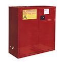 "Global&#8482 Paint & Ink Storage Cabinet - Manual Close Double Door 48 Gallon - 43""W x 18""D x 44""H"