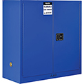 "Global™ Acid Corrosive Cabinet - Manual Close Double Door 30 Gallon - 43""W x 18""D x 44""H"