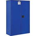 "Global™ Acid Corrosive Cabinet - Manual Close Double Door 45 Gallon - 43""W x 18""D x 65""H"
