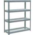 "Extra Heavy Duty Shelving 48""W x 24""D x 72""H With 4 Shelves, Wire Deck"