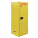 "Global™ Slim Flammable Cabinet BJ60 - Self Close Single Door 60 Gallon - 23""W x 34""D x 65""H"