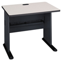 36 Inch Desk Slate Frame with Gray Surface - Modular Office Furniture