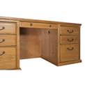 Huntington Oxford WheatDouble Pedestal Executive Desk - Wheat