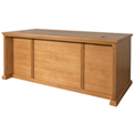 Martin Furniture L-Shaped Desk with Right Return - Wheat - Huntington Oxford Series