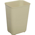 Rubbermaid 10 Gallon Fire Resistant Plastic Wastebasket - Beige