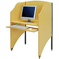 Interion® Privacy Study Carrel, Teak
