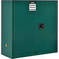 "Global&#8482 Pesticide Storage Cabinet - Manual Close Double Door 30 Gallon - 43""W x 18""D x 44""H"