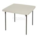 "Lifetime® 37"" x 37"" Square Folding Table In Almond"