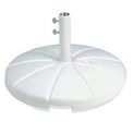 Grosfillex® Resin Outdoor Umbrella Base With Filling Cap, White