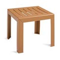 Grosfillex® Outdoor End Table With Wood Slat Pattern - Teakwood