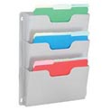 Steel Triple Wall File Pockets Letter Size - Platinum