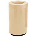 Fiberglass Waste Receptacle with Open Top - 32 Gallon Capacity Tan