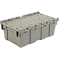 Plastic Storage Container - Attached Lid DC2012-07 19-5/8 x 11-7/8 x 7 Gray