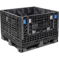 ORBIS BulkPak KD4845-34 Folding Bulk Shipping Container 48 x 45 x 34 1500 lb Capacity Black