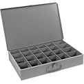 Durham Steel Scoop Compartment Box 102-95 - 24 Compartments 18 x 12 x 3 - Pkg Qty 4