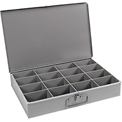 Durham Steel Scoop Compartment Box 113-95 - 16 Compartments - Pkg Qty 4