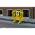 MINIT™ Interlocking Plastic Barricade, Yellow