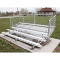Aluminum Bleachers with Guardrails 5 row 21' W