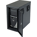 CPU Side Cabinet with Front/Rear Doors and 2 Exhaust Fans - Black