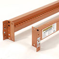 "Pallet Rack Beam 96""Lx4-1/16""H Notched 5030 Lb Cap/Pr (2 pcs)"