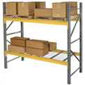 """Husky Rack & Wire L183612050096S Double Slotted Pallet Rack Starter 96""""W x 36""""D x 120""""H"""