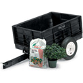 Rubbermaid® 5662-61 Nursery & Lawn Tractor Cart Trailer 8 Cu. Ft. Capacity