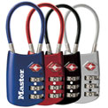 "Master Lock® Tsa Accepted Luggage Combination Padlock 2""W Assorted Colors - Pkg Qty 4"