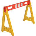 "Portable Plastic A-Frame Style Barricade 44-1/2"" With 1 Rail"