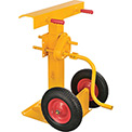 Hand Crank Trailer Jack Stand 100,000 Lb. Static Cap. Semi-Pneumatic Wheels