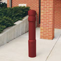 "Arch Decorative Bollard Cover Fit Pipe 6"" -6-5/8"" Red"