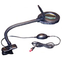 Deluxe Clip-On Mini Magnifier Lamp, Black