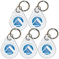 TimeTrax Prox Key Fobs, Pack of 5