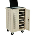 Mobile Storage & Charging Cart for 12 Laptop & Chromebook™ and iPad® Tablets,  Putty