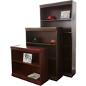 "Jefferson Traditional Bookcase 36"" H, Mahogany"