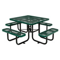 "46"" Square Expanded Metal Picnic Table Green"