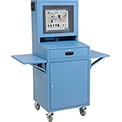 Mobile Security LCD Computer Cabinet Enclosure Complete Bundle - Blue