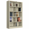 "All Steel Bookcase 36"" W x 12"" D x 60"" H Putty 5 Openings"