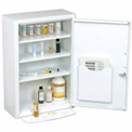 "Global® Medicine Cabinet With Pull Out Shelf 18""W x 8""D x 27""H, White"