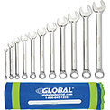 Global™ Industrial 11 Piece SAE Combination Wrench Set in Mesh Pouch