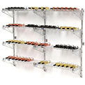 "Wine Bottle Rack - Wall Mount 72 Bottle 36"" x 14"" x 54"""